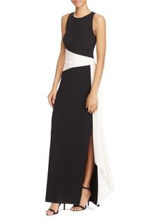 Lauren Ralph Lauren Color-Block Gown