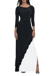 Lauren Ralph Lauren Color-Block Gown