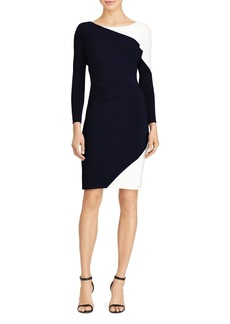Lauren Ralph Lauren Color-Block Jersey Dress
