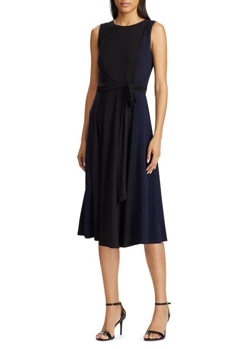 Lauren Ralph Lauren Color-Block Midi Dress