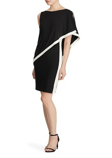 Lauren Ralph Lauren Color-Block Overlay Dress