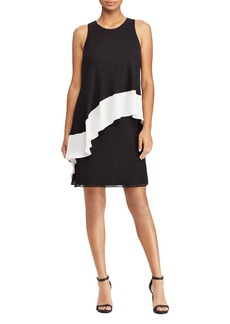 Lauren Ralph Lauren Color-Blocked Georgette Dress