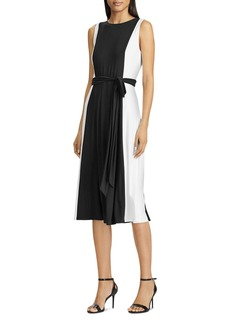 Lauren Ralph Lauren Color-Blocked Midi Dress