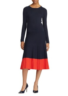 Lauren Ralph Lauren Colorblock Cotton-Blend Dress