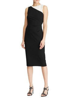 Lauren Ralph Lauren Colorblock Crepe Sheath Dress
