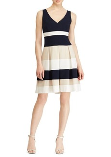 Lauren Ralph Lauren Colorblock Jersey Dress