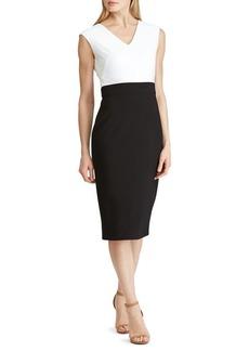 Lauren Ralph Lauren Colorblock Sheath Dress