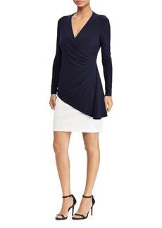 Lauren Ralph Lauren Contrast Layered-Look Dress