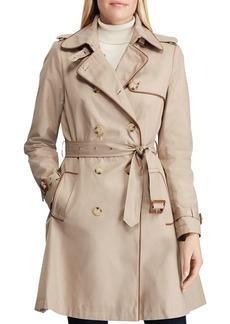 Lauren Ralph Lauren Contrast Piped Trench Coat
