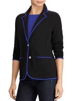 Lauren Ralph Lauren Contrast Trim Knit Blazer
