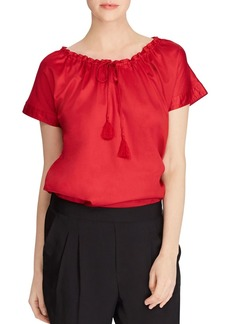 Lauren Ralph Lauren Convertible Drawstring Neck Top