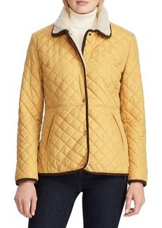Lauren Ralph Lauren Corduroy-Trimmed & Faux Fur-Lined Quilted Jacket