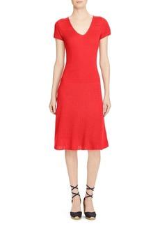 Lauren Ralph Lauren Cotton-Blend Sweater Dress