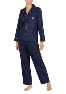 Lauren Ralph Lauren Cotton Dobby Long PJ Set