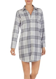 Lauren Ralph Lauren Cotton Flannel Brushed Twill His Shirt Sleepshirt