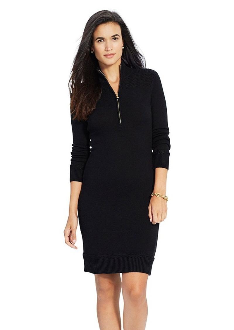 ralph lauren lauren ralph lauren cotton mockneck sweater dress dresses. Black Bedroom Furniture Sets. Home Design Ideas