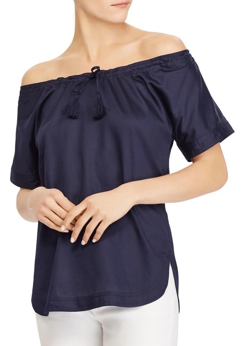 Lauren Ralph Lauren Cotton Off-the-Shoulder Top