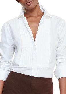 LAUREN RALPH LAUREN Cotton Poplin Bib Tunic
