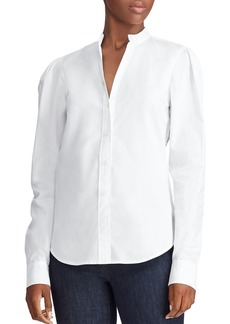 Lauren Ralph Lauren Cotton Puff-Shoulder Shirt