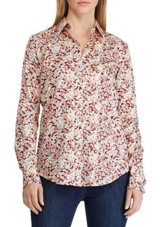 Lauren Ralph Lauren Cotton Sateen Floral-Print Shirt
