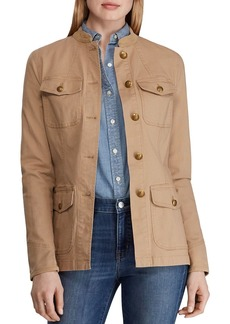 Lauren Ralph Lauren Cotton Stretch Military Jacket
