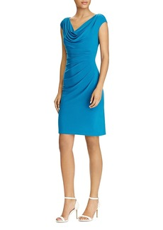 Lauren Ralph Lauren Cowl-Neck Jersey Dress