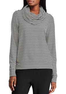 Lauren Ralph Lauren Cowl Neck Stripe Top