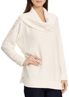 Lauren Ralph Lauren Cowlneck Cotton Sweater