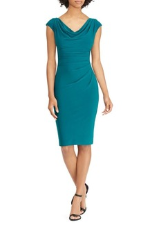 Lauren Ralph Lauren Cowlneck Sheath Dress