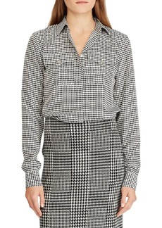 Lauren Ralph Lauren Crepe Button-Down Shirt