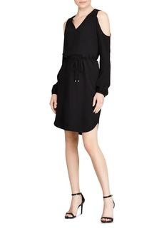 Lauren Ralph Lauren Crepe Cold-Shoulder Dress