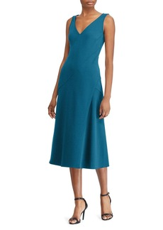 Lauren Ralph Lauren Crepe Midi Dress