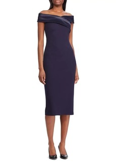 Lauren Ralph Lauren Crepe Off-The-Shoulder Sheath Dress