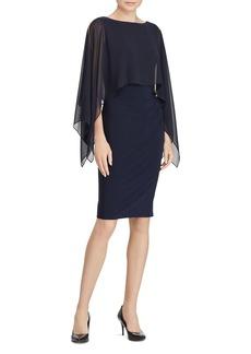 Lauren Ralph Lauren Crepe Overlay Dress
