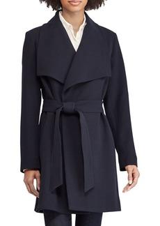 Lauren Ralph Lauren Crepe Wrap-Front Walker Coat