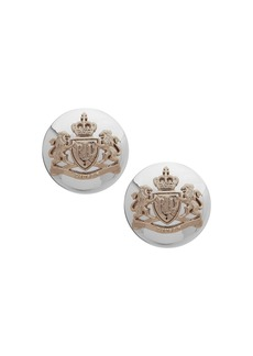 Lauren Ralph Lauren Crest Button Clip-On Earrings