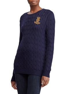 Lauren Ralph Lauren Crest Cable Sweater