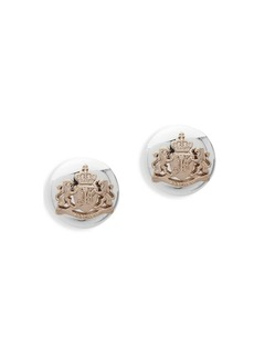 Lauren Ralph Lauren Crest Crystal Stud Earrings