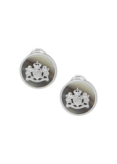 Lauren Ralph Lauren Crested Clip-On Stud Earrings