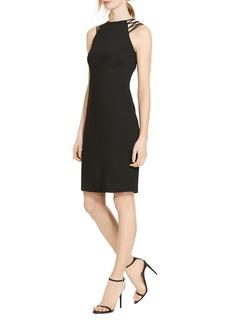 Lauren Ralph Lauren Crisscross Detail Sheath Dress