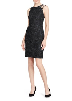 Lauren Ralph Lauren Crisscross-Strap Lace Dress - 100% Exclusive