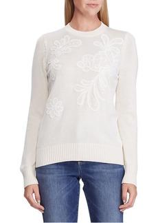 Lauren Ralph Lauren Crochet Cotton-Blend Sweater