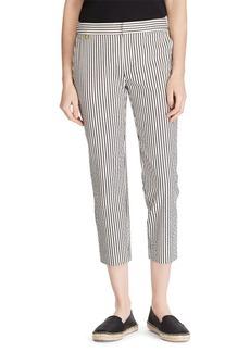 Lauren Ralph Lauren Cropped Seersucker Pants