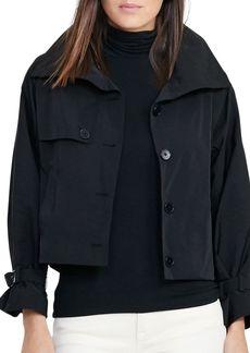 Lauren Ralph Lauren Cropped Taffeta Jacket