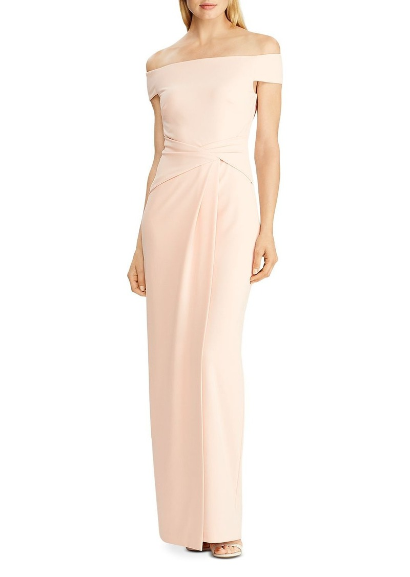 Lauren Ralph Lauren Cr�pe Fixed Twist Gown