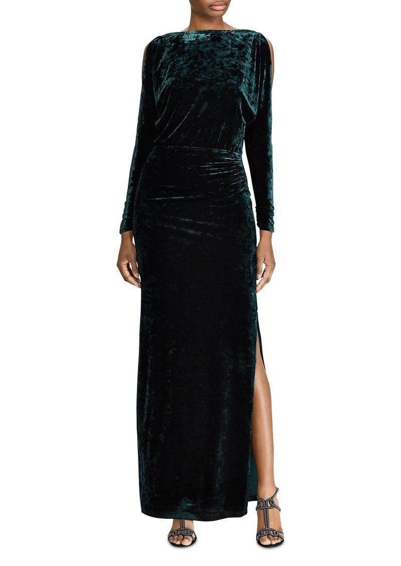Lauren Ralph Lauren Crushed Velvet Gown