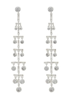 Ralph Lauren Crystal Drops Linear Post Earrings