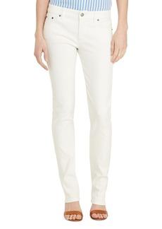 Lauren Ralph Lauren Curvy Straight Leg Jeans in White