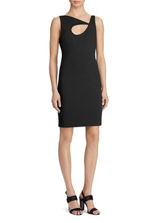 Lauren Ralph Lauren Cutout Asymmetric-Neck Dress - 100% Exclusive