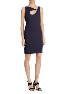 Lauren Ralph Lauren Cutout Asymmetric-Neck Dress